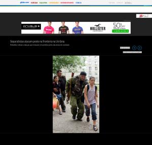 'Separatistas atacam posto na fronteira na Ucrânia - Jornal O Globo' - oglobo_globo_com-12688411