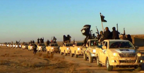 ISIS Konvoi mit US-Jeeps