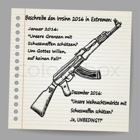 """""""Unsere Grenzen mit Schusswaffen schützen? Um Gottes Willen, auf keinen Fall!!"""""""